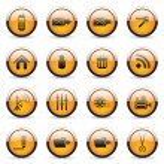 Orange buttons — Stock Vector