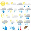 Weather icons — Stock Vector #2482852