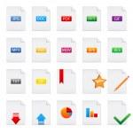 Document icons set — Stock Vector