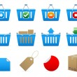 Shopping baskets — Vector de stock