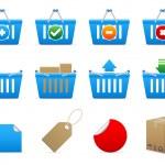 cestas de compras — Vector de stock