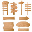 Vector de stock : Wooden signs