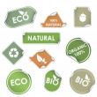 Eco recycling labels - Stock Vector