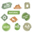Stock Vector: Eco recycling labels