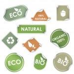 Etiquetas de reciclaje Eco — Vector de stock