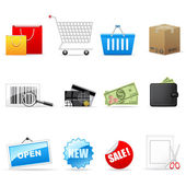 Shopping icons — Vetorial Stock