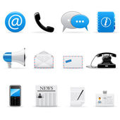 Communication icons — Vetor de Stock