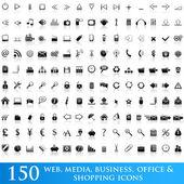 Conjunto de ícones para aplicativos da web — Vetorial Stock