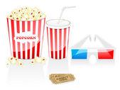 Cinema icons — Stock Vector