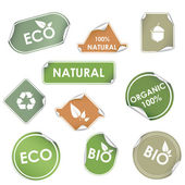 Eco recycling labels — Stock Vector