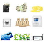 Banking and finance icons — Stock Vector