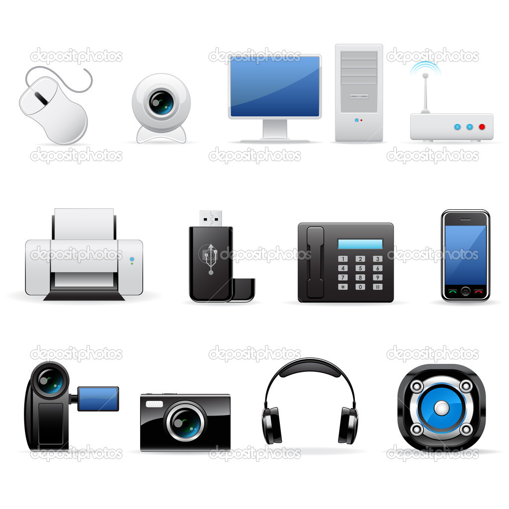 Computers and electronics icon set.  Stock Vector #2482766
