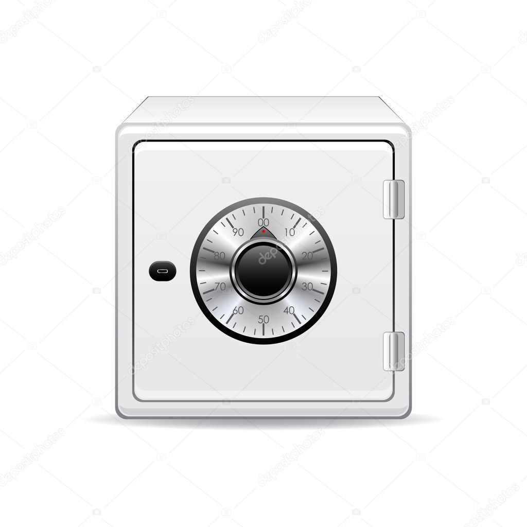 Vector icon of the safe. — Stock Vector #2485931