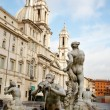 Piazza Navona Fountain — Stock Photo