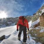 Winter climb — Stock Photo
