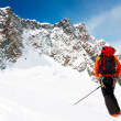 Ski mountaineer - Stock Photo