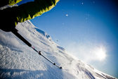 Freeride skiing — Stock Photo