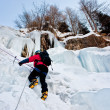 Ice climber - Stock Photo