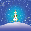 Royalty-Free Stock Vector Image: Stars snow and christmas tree