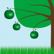 Royalty-Free Stock Imagen vectorial: Apple tree