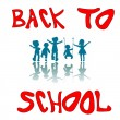 Back to school kids — Vector de stock #1244921