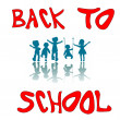 Royalty-Free Stock Vector Image: Back to school kids