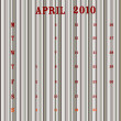 April 2010 - stripes — Stockvectorbeeld