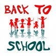 Back to school kids — Vector de stock