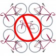 Royalty-Free Stock Imagem Vetorial: Bicicles not allowed here