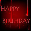 Royalty-Free Stock Vector Image: Bloody birthday