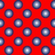 Royalty-Free Stock Vector Image: Blue spheres on red seamless pattern
