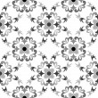 Black and white seamless floral pattern — Stock Vector