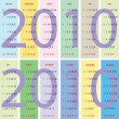 Calendar 2010 with pastel background — Stock Vector