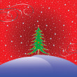 Christmas tree with stars background — Stock Vector #1245161