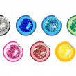 Royalty-Free Stock Vector Image: Colored disco ball stickers collection