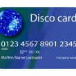 Credit card disco blue — Stock Vector #1245240
