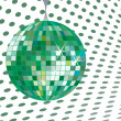 Discoball green — Stock Vector #1245349