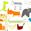 Royalty-Free Stock Vector Image: Drawing of animals isolated on white bac