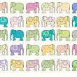 Elephant vector background — Image vectorielle