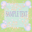 Royalty-Free Stock Vector Image: Floral card with space for text