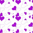 Heart purple pattern — Stock Vector