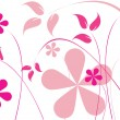 Stock Vector: Pink flowers