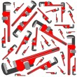 Royalty-Free Stock Vector Image: Pipe wrench pattern