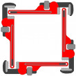 Pipe wrench photo frame — Stock Vector