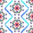 ストックベクタ: Retro seamless floral pattern 2