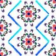 レトロなシームレスな花柄 2 — ストックベクタ