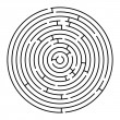 Royalty-Free Stock Vector Image: Round maze