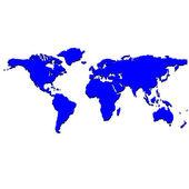 Blue world map — Stock Vector