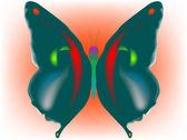 Schmetterling — Stockvektor