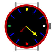 Clock in colors — Stock Vector